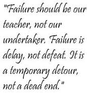 failure should be our teacher