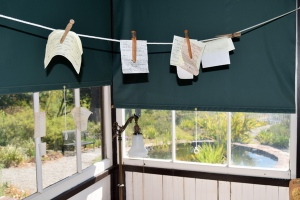 Clothesline Notes in Jack London's Country Cottage
