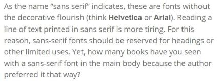 pale gray font