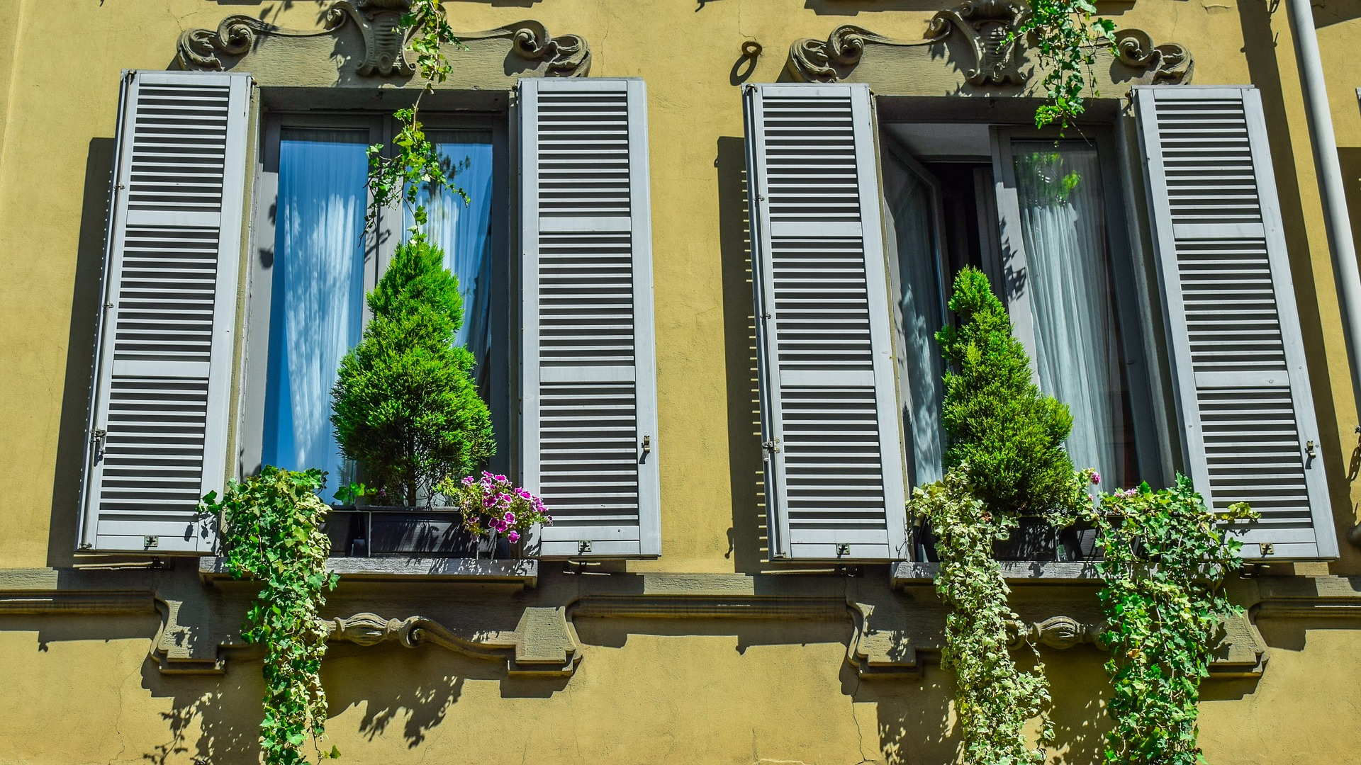 old Italian windows_Milan
